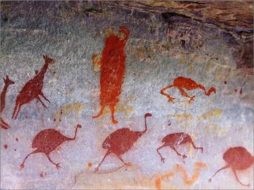 Pinturas antigas na Chapada Diamantina Norte