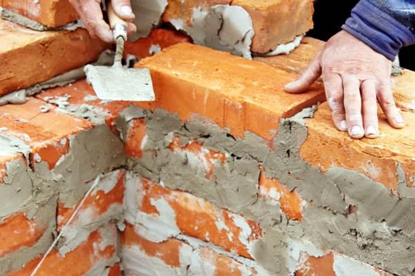 Argamassa utilizada para colagem de tijolos