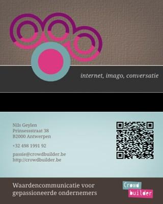 Cartão de visita impresso com tecnologias eletrônicas aplicadas