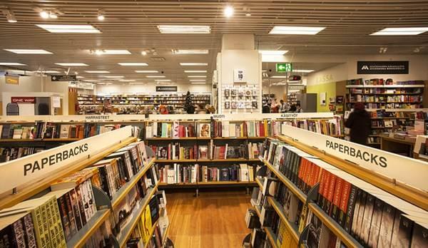 Setor de livros de uma loja de departamento