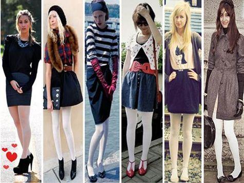 Maneiras de usar meia calça branca