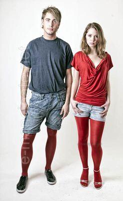 Meia calça para homens e mulheres
