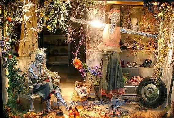Vitrine exótica de uma boutique