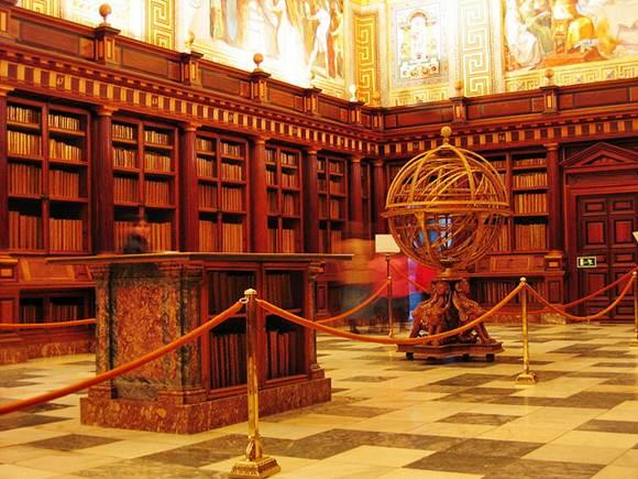 Biblioteca do Mosteiro de San Lorenzo de El Escorial, em Madri