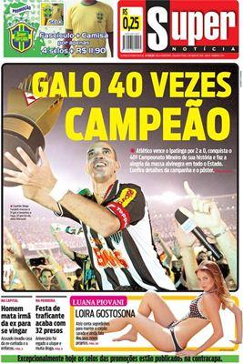 Capa do Jornal Impresso Super Notícia