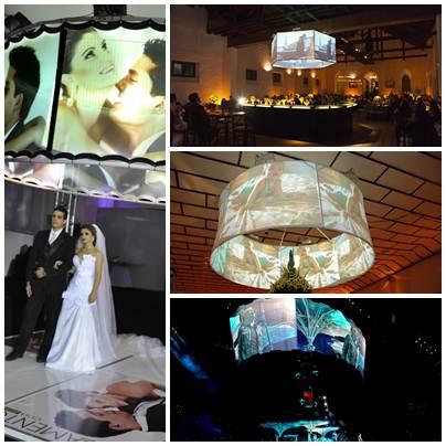 Os telões 360º já está no mercado e são a preferencia dos clientes, seja para casamento, bares, aniversários e shows de grande porte