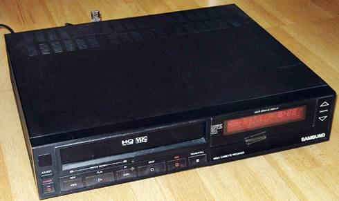 Aparelho de video cassete usado para reproduzir as fitas VHS