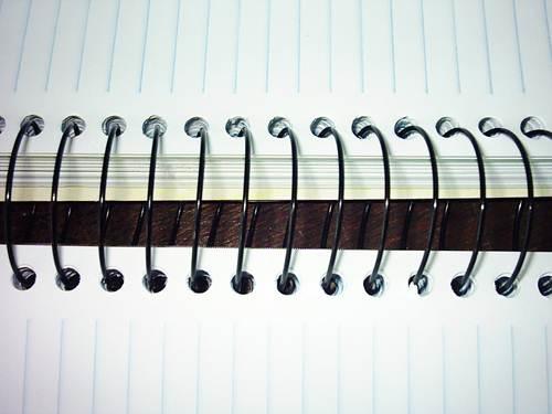 Exemplo de caderno aspiral