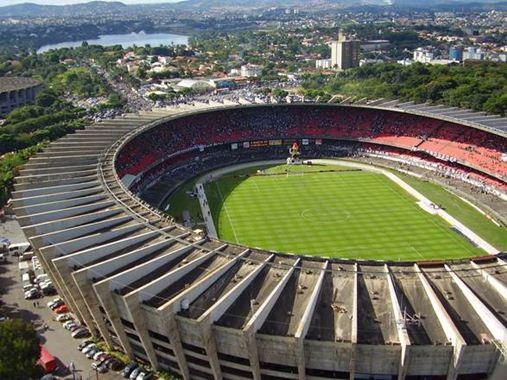 Vista do estádio Mineirão, que fica na capital mineira