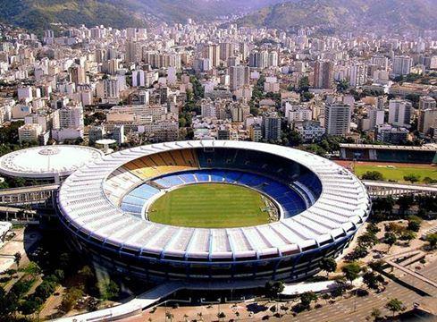 Vista aérea do Maracanã e redondezas