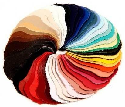 Cartela de cores em couro