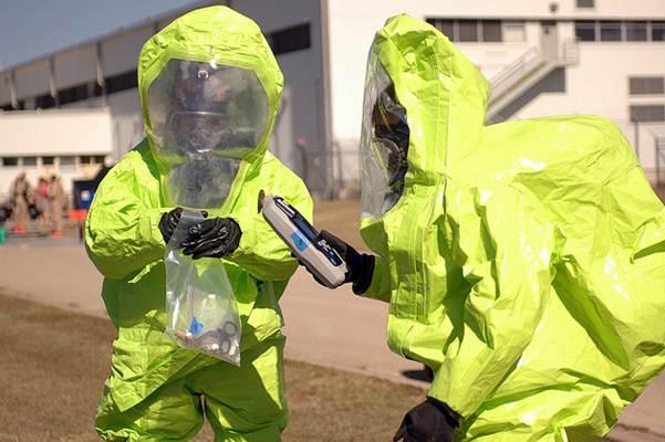 Roupa de proteção individual, usada quando há risco de contaminação