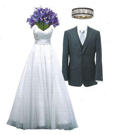 Escolha as roupas do noivo de acordo com o vestido da noiva, assim como o buquê e o sapato