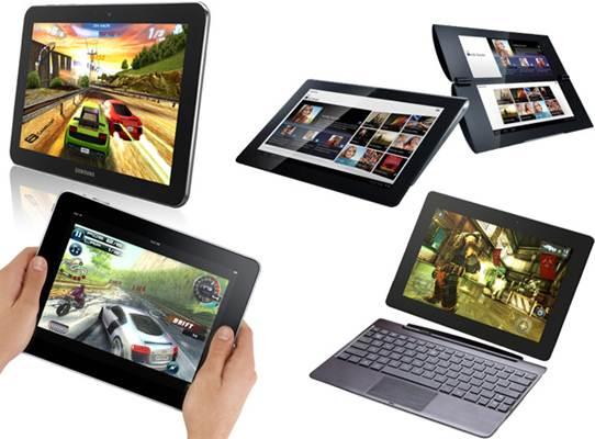 Alguns modelos de tablet