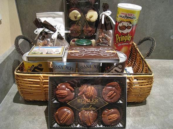 As cestas variam de valor de acordo com os produtos adicionados