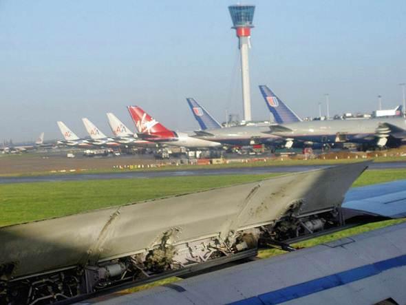 Área de estacionamento para os aviões