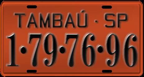 Segundo sistema de placas para veículos