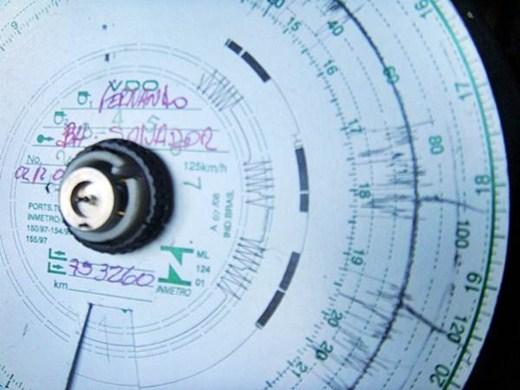 Papel do tacógrafo usado