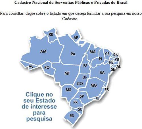 Site do Governo de Minas que permite consulta dos Cartórios do Brasil