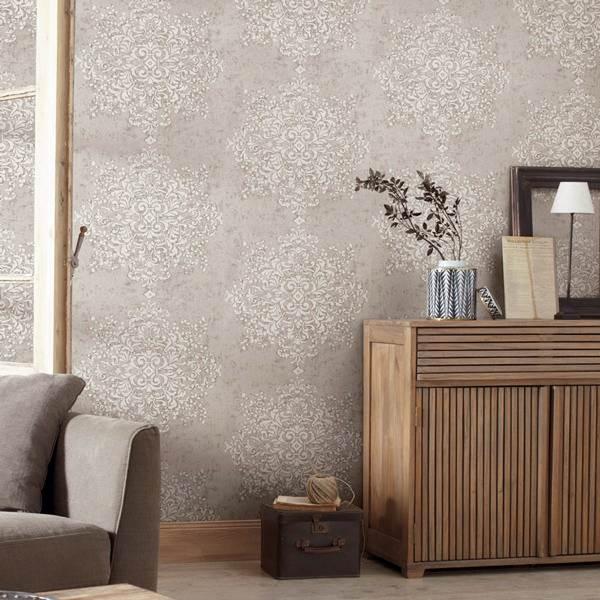 Papel de parede em uma decoração com estilo moderno - Foto Flickr @Papel de Parede - papeldeparedeonline.com